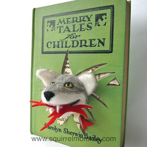 Squirrel Momma's Wolfie - Needle Felting & Book