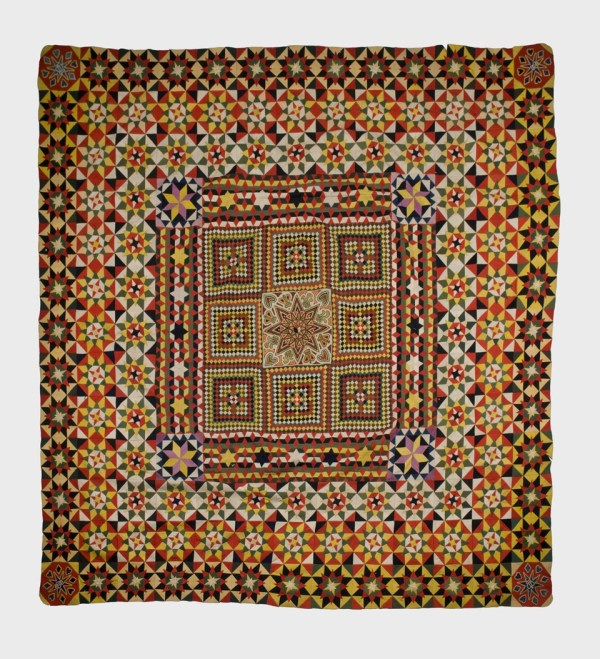 Crimean Quilt. Made of over 10,000 pieces, assembled by soldiers injured in the Crimean War 1853-6. © Tunbridge Wells Museum