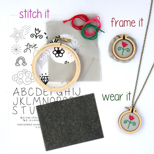 Mini Hoop Kits by Dandelyne (Hand Embroidery)