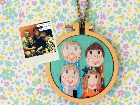 Custom Portrait by Dandelyne (Hand Embroidery) available again in 2016