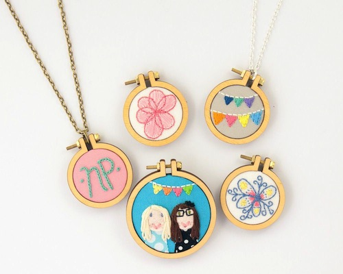 Mini Hoop Selection by Dandelyne (Hand Embroidery)