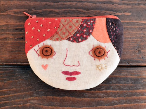 Applique Face Purse by Doalittledance (Hand Embroidery)