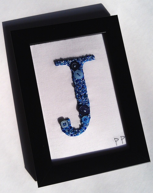 Letter Art by Patricks Pieces (Hand Embroidery)