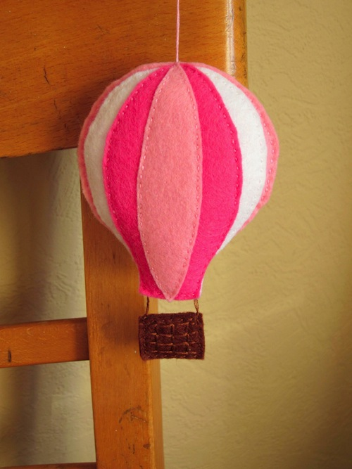 Hot Air Balloon Wall Hanging by The Ladybird Tree (Hand Embroidery)