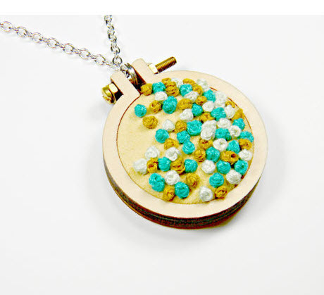 Luscious French knots pendants by Hey Paul.