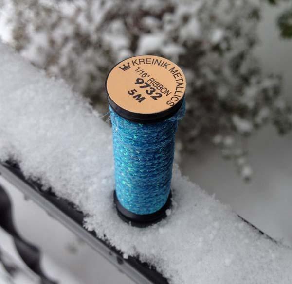 Kreinik thread color 9732 Blue Grass