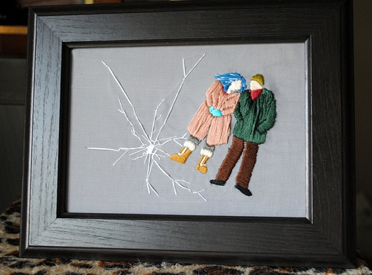 Eternal Sunshine of the Spotless Mind. Hand embroidered.