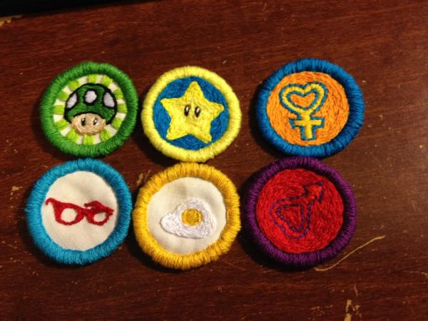 IllumineArtisanWorks's Embroidered Video Game Merit Badges