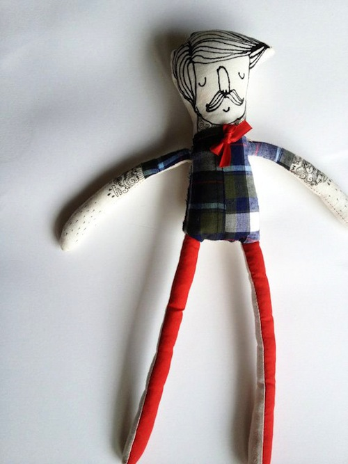 My Little Hipster Boyfriend by Blue Raspberry Designs (Soft Sculpture)