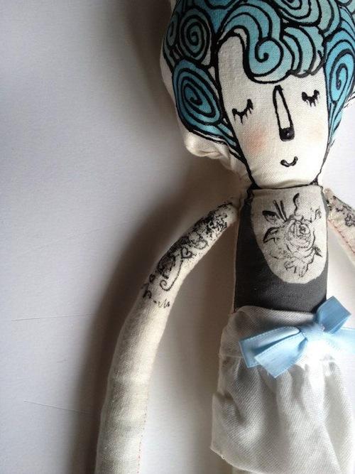 My Little Hipster Girlfriend (Susan) by Blue Raspberry Designs (Soft Sculpture)