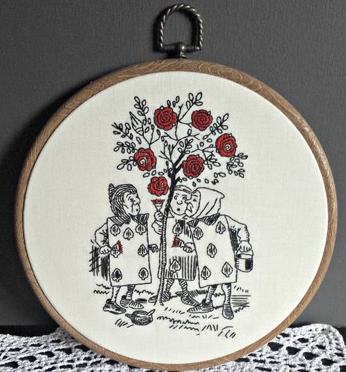 Bexster's Alice in Wonderland Hand Embroidered Hoopla