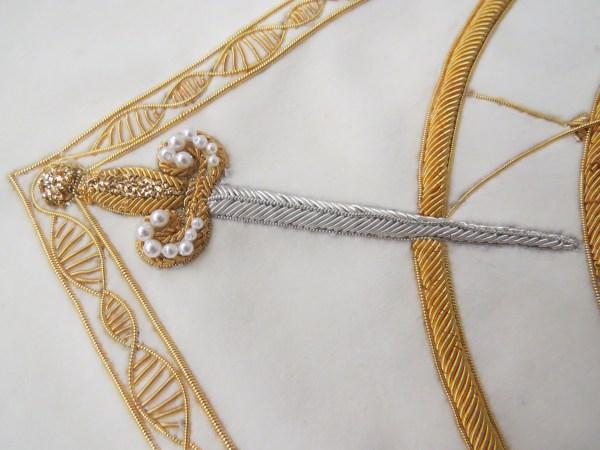 Hand & Lock Goldwork Sword
