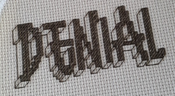 Mr X Stitch - Denial - Hand Embroidery