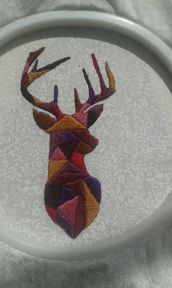MoriarT's Satin Stitched Stag Head