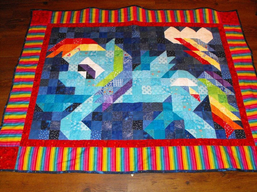 Rainbow Dash Quilt by ~jysalia on deviantART