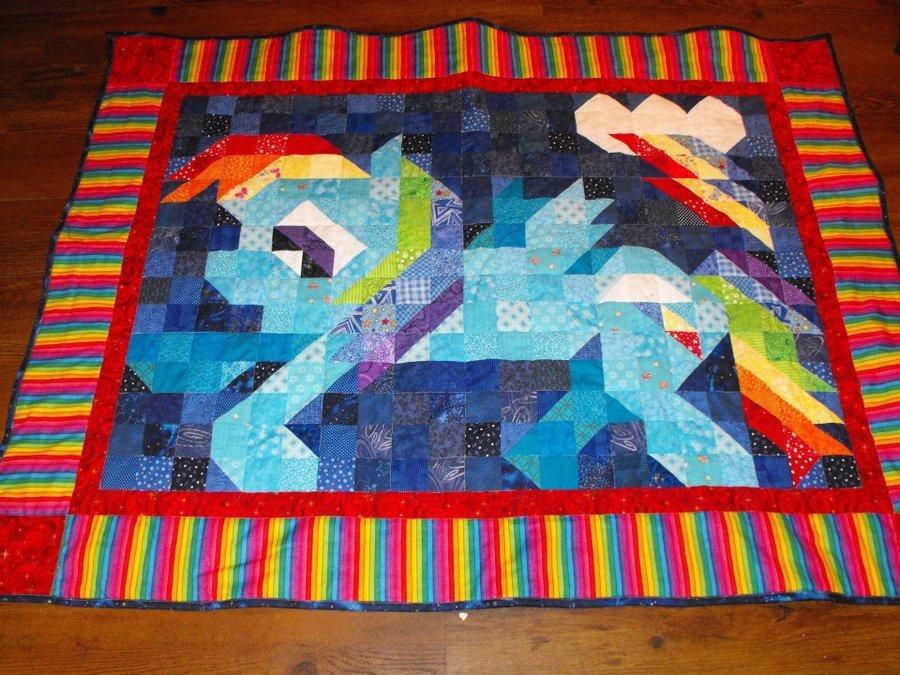 Rainbow Dash Quilt by ~jysalia on deviantART