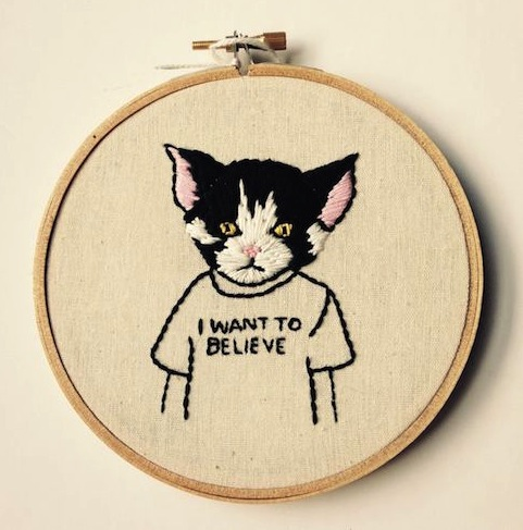 Teen Cat by Stitch You Up (Hand Embroidery)
