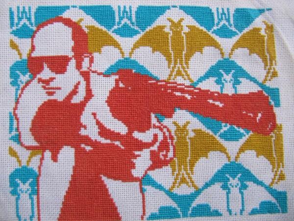 xxStitchery's Hunter S Thompson Cross Stitch