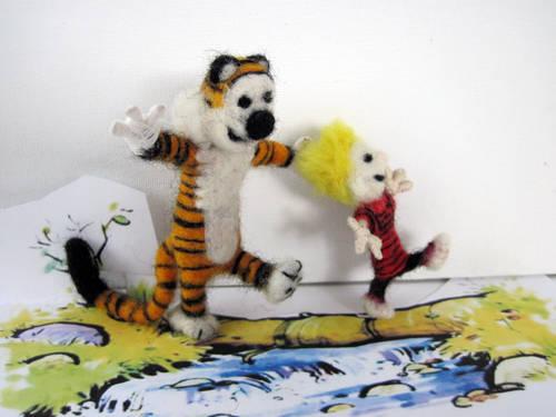 Yoopidou's Needle Felted Calvin & Hobbes