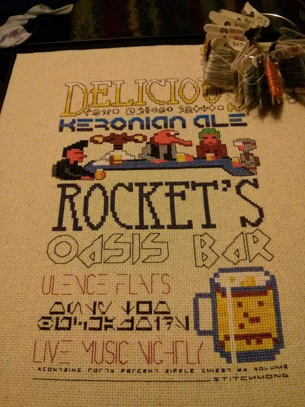 Space Quest Bar Flyer by Stitchmond