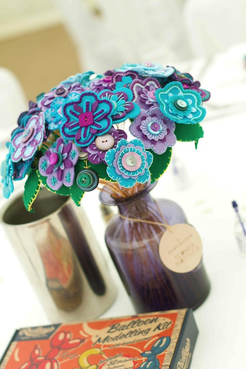 Table Arrangement by Charlotte Laurie Designs (Hand Embroidery)