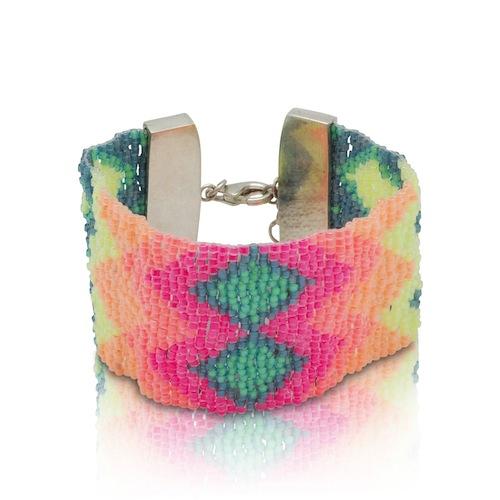 Colour Creator Beaded Bracelet by La Luna Rose (Hand Beading)