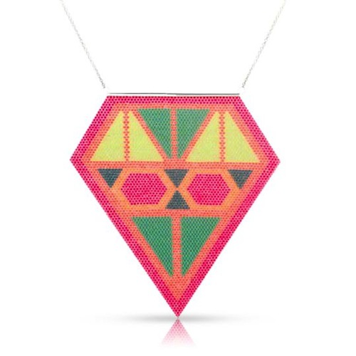 Diamond Dot Beaded Neckpiece by La Luna Rose (Hand Beading)