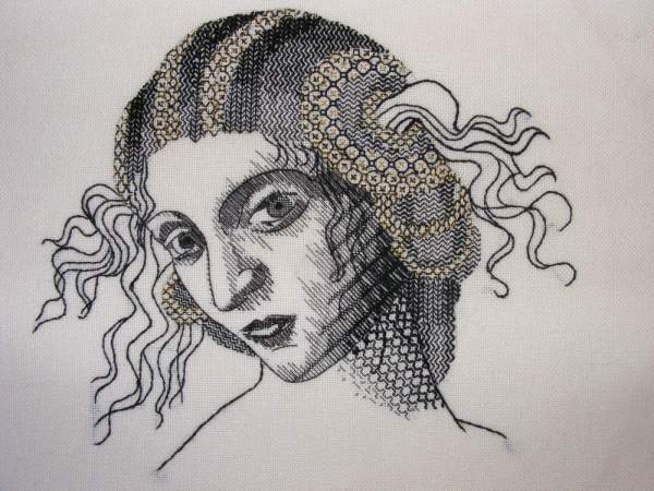 Helen McCook's Jacobean Blackwork Portrait