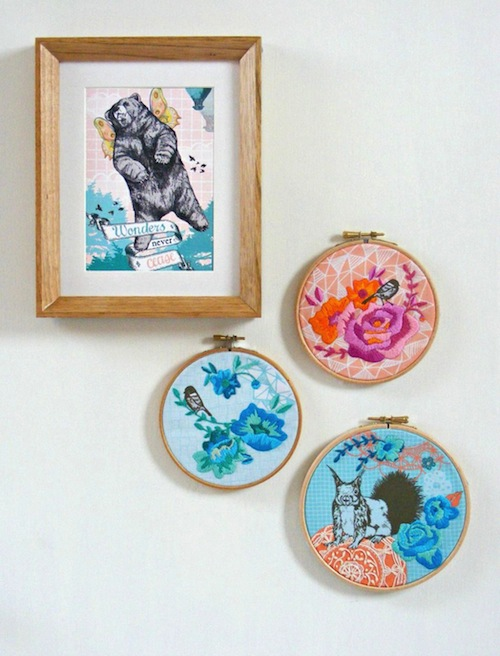 Jenny Blair Art - Wall Art Embroidery Kits