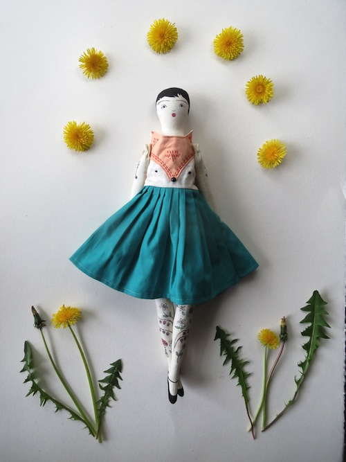 Forest Fox Sister Doll by Alia Grace Dolls (Soft Sculpture)