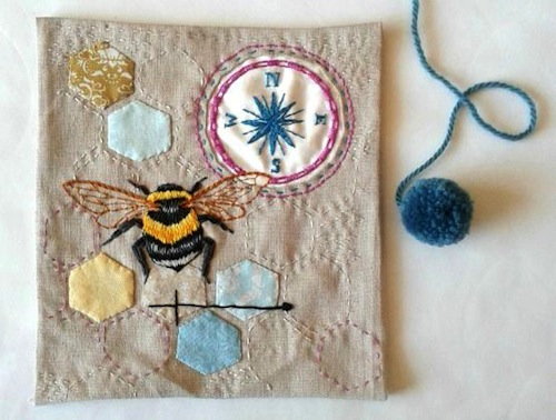 Free to Bee by Jenny Blair Art (Handmade Embroidery)