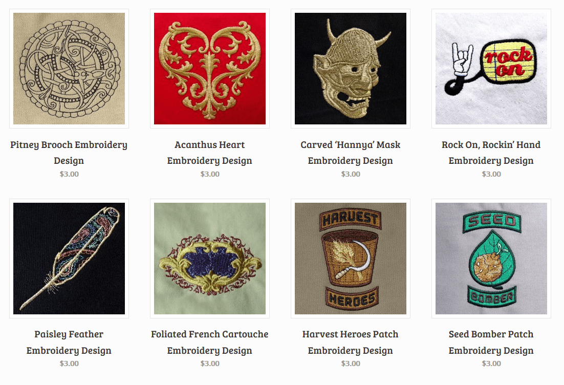 Selecting Stock Machine Embroidery Designs