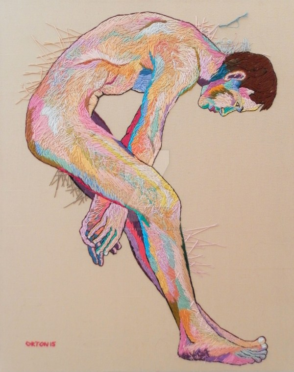 Mal eembroidered nude by Andrew Orton