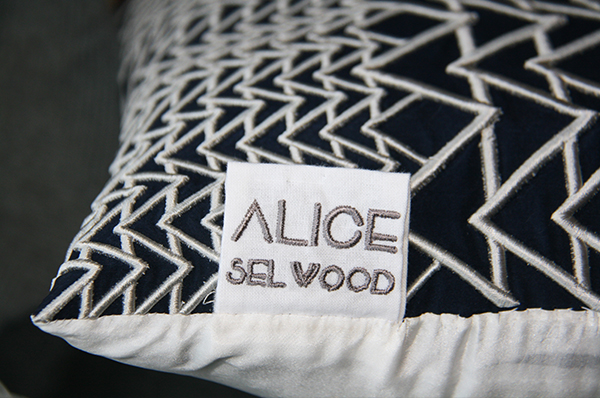 Bespoke cushions by Alice Selwood