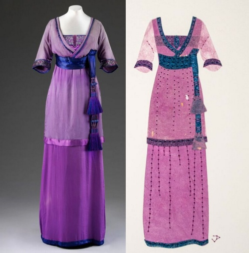 Edwardian gown by Judith Pudden.