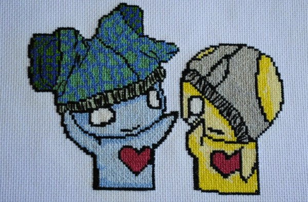 Pon and Zi. Cross stitch by Little Symmetry.
