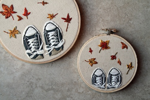 IttyBittyBunnies - Autumn Leaf Shoes Embroidery