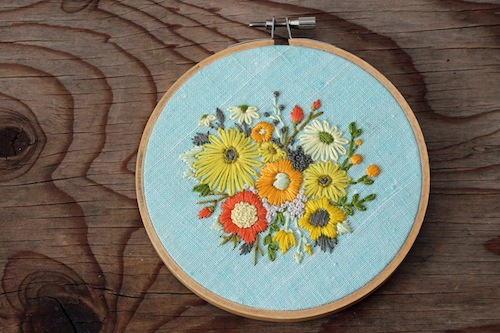 IttyBittyBunnies - Floral Bouquet Embroidery