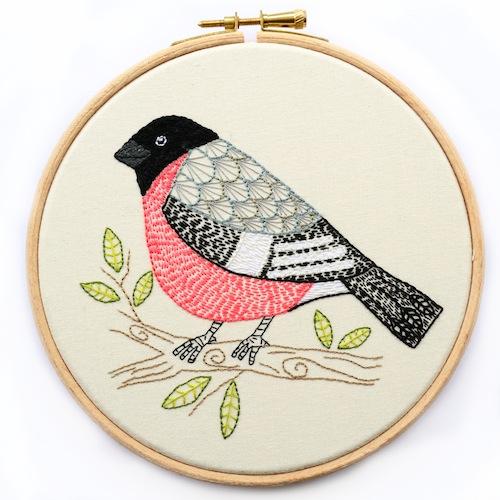 Chloe Redfern Artist - Bullfinch Hoop