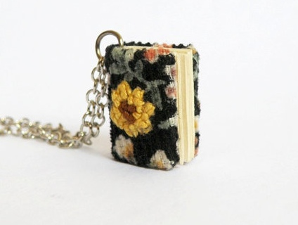 Too Cute Tuesday – Mini book necklace by Her Sweet Embrace