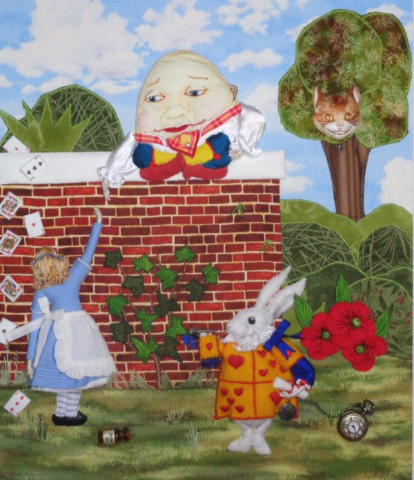 Humpty Dumpty and Alice by RSN Student Mary Laidlaw, Applique