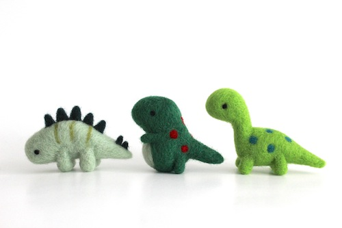 Wild Whimsy Woolies - Needle Felted Dinosaurs