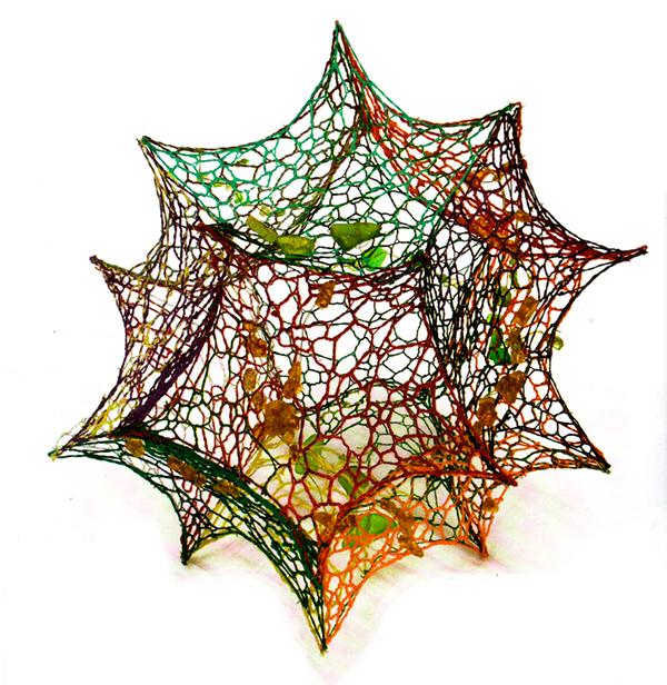 Marian Núñez - Alone - lace and sea glass Photo Credit: Marian Núñez