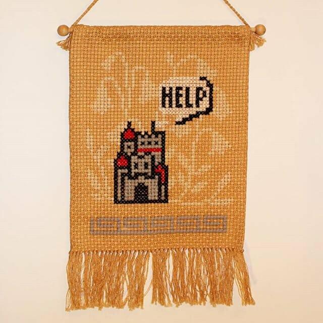 mario castle cross stitch by TERESA KNIGHT