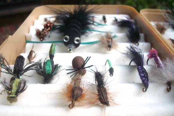 My co-worker Jim, an avid fly fisherman, shared these with me. I played with them like they were dolls in a dollhouse. Ah, but their purpose is more series than that: catch fish.