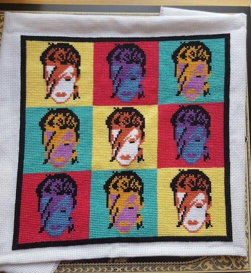 Son of a Cross Stitch - Bowie Pop Art