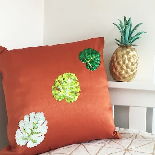 Textiles By Becca - Monstera Leaf Cushion