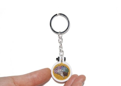 Plush Art Lab - Brain Keyring
