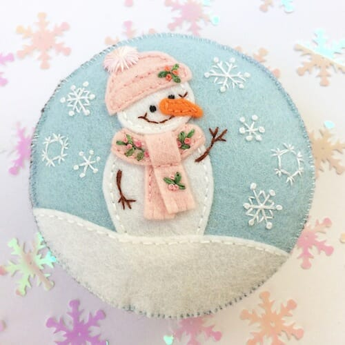 Fabric And Ink - Snowman Pincushion