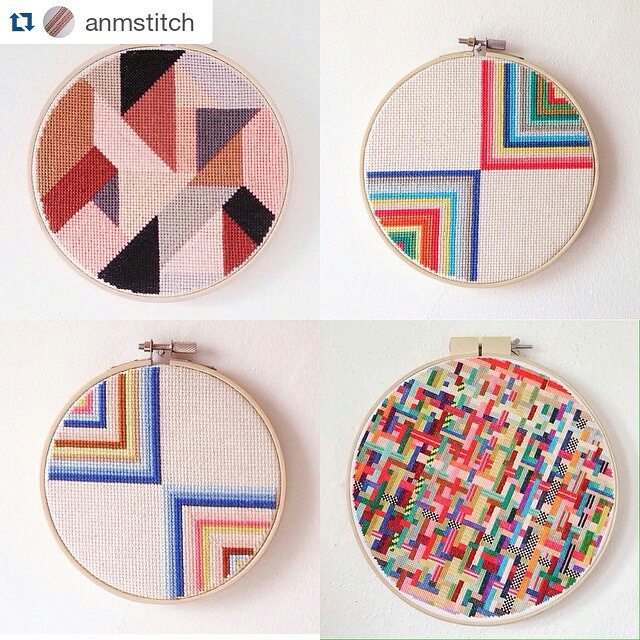 Andrea McLaren's geometric cross stitch